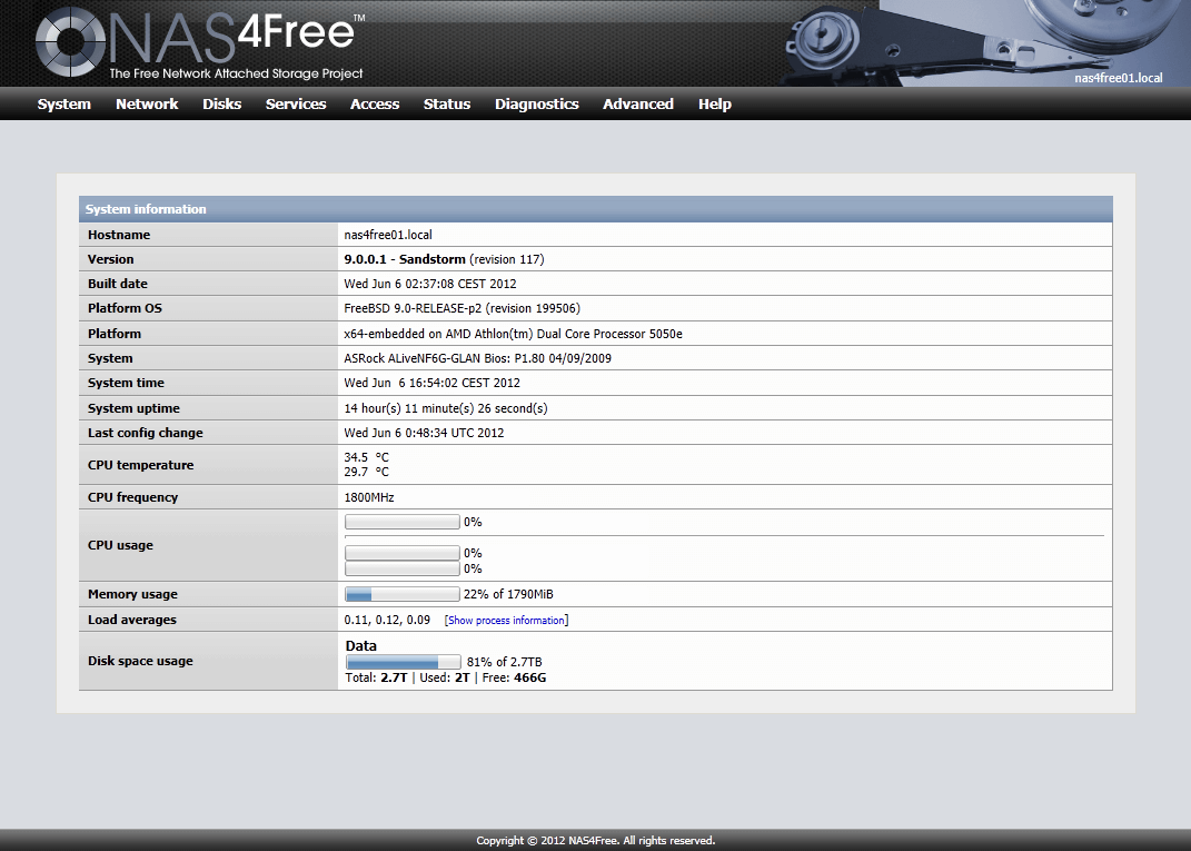 New Open Source Storage NAS on the block: NAS4Free ...