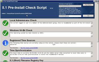 5.1 Pre Install Check Script